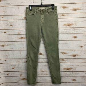 Bullhead High-Rise Skinniest Sage Green Jeans 7